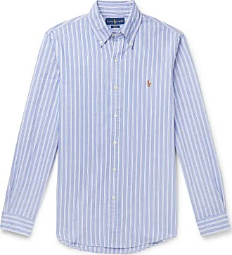 Polo Ralph Lauren Slim-fit Button-down Collar Striped Cotton Oxford Shirt - Blue