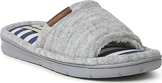 Dearfoams Womens Alice Knit Slide Slipper, Light Heather Grey, S