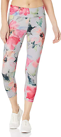 Jockey Womens Fantasy Floral Capri Leggings, Watercolor Combo, Large