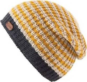 KuSan 100% Wool Slouch Rib Knit Beanie Hat PK1910 (Yellow)