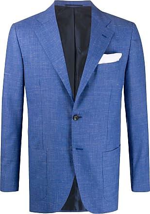 Kiton notched lapel blazer - Blue