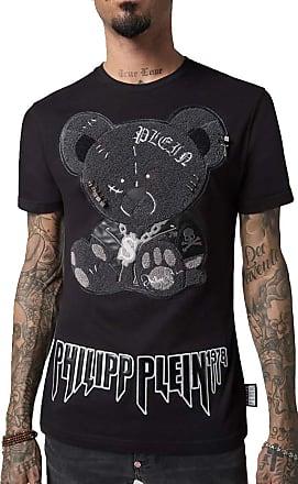 Philipp Plein T-Shirt Black Cut Round Neck Teddy Bear (XXLarge)