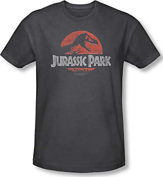 b354aa1da Jurassic Park Mens Faded Logo T-Shirt In Charcoal, Small, Charcoal