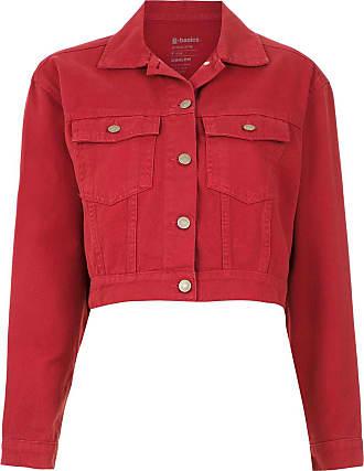 Osklen cropped denim jacket - Red