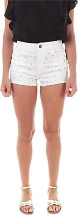 Twin-Set 201TP2131 Twinset Shorts Con Strass da Donna Neve - - 4
