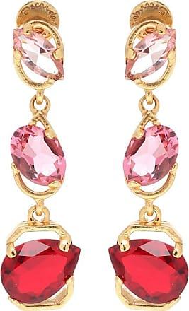 Oscar De La Renta Crystal-embellished drop earrings