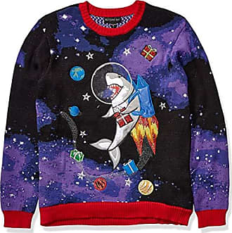 Blizzard Bay Mens Sick Reindeer Ugly Christmas Sweater