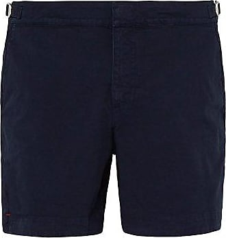 Orlebar Brown Bulldog Cotton-twill Shorts - Mens - Navy