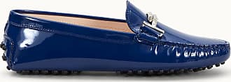 Tod's Gommino Mokassins aus Lackleder, BLAU, 34.5 - Shoes