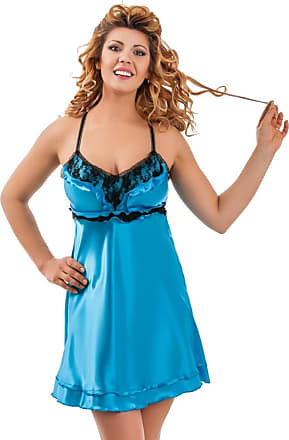 Nine X Beautiful Satin Babydoll with lace Bust S-6XL 8-26Lila Plus Size Turquoise 2XL