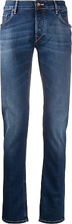 Hand Picked Calça jeans slim com cintura média - Azul