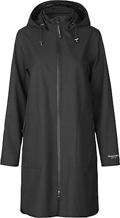 Ilse Jacobsen Ilse Jacobsen Raincoat | A Light and Feminine Trench-Inspired Raincoat with a Waist Belt | Softshell 100% Polyester | RAIN128 Black 34