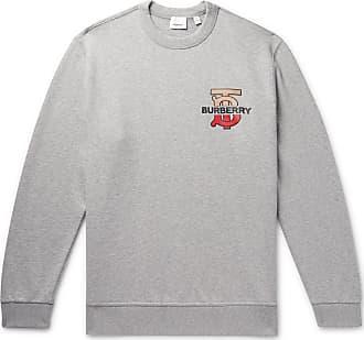 84833bcf9b566f Burberry Logo-detailed Mélange Loopback Cotton-jersey Sweatshirt - Gray