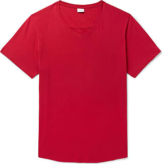 Onia Cotton And Modal-blend Jersey T-shirt - Red