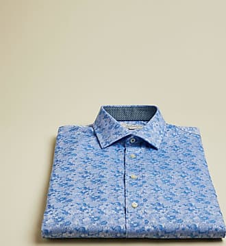 Ted Baker Floral Cotton Shirt in Light Blue SQUASHH, Mens Clothing