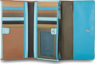 b52eb3aad2 DuDu Portafoglio da donna in pelle morbida colorato Trifold porta carte con  patta DUDU Marrone scuro