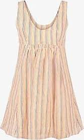 Three Graces London Emilia Dress in Rainbow Stripe
