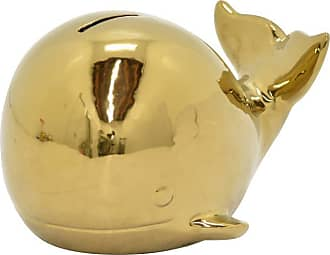 Three Hands 4.75 in. Ceramic Baby Whale Money Bank Figurine - 97289