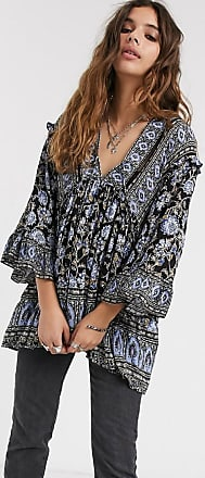 Free People moonlight dance printed top-Black