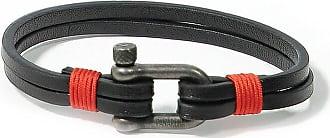 Panareha TEAHUPOO mens leather bracelet black