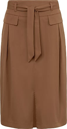 Gerry Weber Stretch cotton skirt Gerry Weber brown