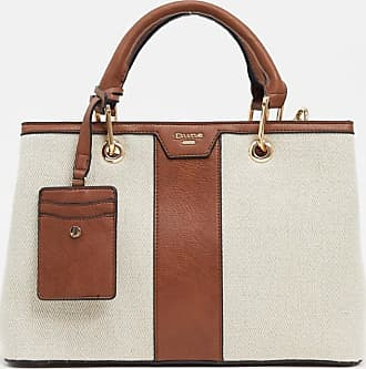 Dune London dotty canvas and pu tote bag-Multi