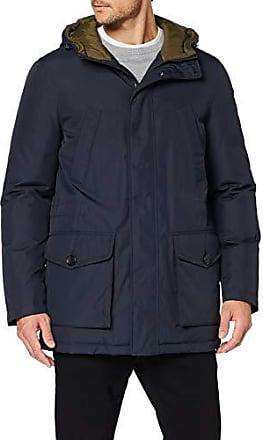 Mantel Geox Herren gerade Passform Herren Trenchcoat Jacke nOwP0k