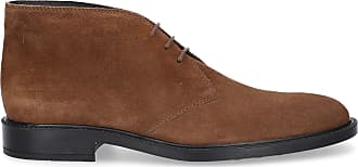 Tod's Ankle boots suede Logo brown
