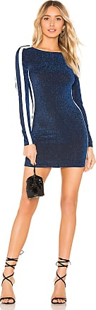 by the way. Reina Side Stripe Metallic Bodycon Dress in Blue