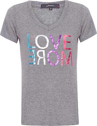 J. Chermann Camiseta Love More - Cinza