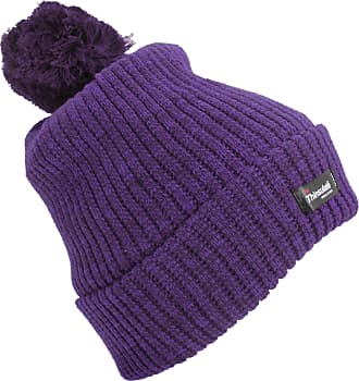 Universal Textiles Womens/Ladies Thinsulate Pom Pom Thermal Winter Hat (3M 40g) (One Size) (Purple)