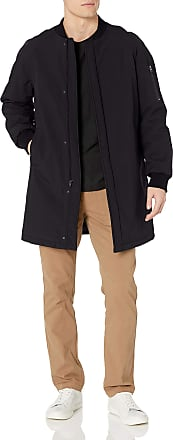DKNY mensDOUGR4XRSlim Fit Long Bomber Jacket Raincoat - Black - 40 Lange