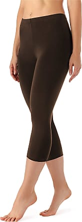 Merry Style Womens Leggings 3/4 MS10-144(Brown, XXL)