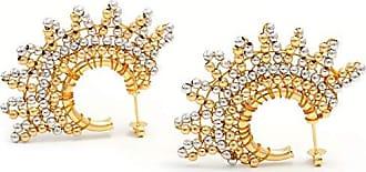 Tinna Jewelry Brinco Dourado Meio Sol