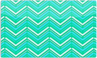 KESS InHouse CarolLynn TiceSymetrical Teal Turquoise Artistic Aluminum Magnet, 2 by 3, Multicolor
