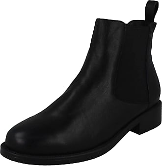 Spot On Ladies Leather Ankle Boots F50968 - Black Leather - UK Size 6 - EU Size 39 - US Size 8