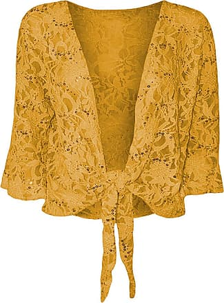 Top Fashion18 Womens Ladies Plus Size Floral Sequin Lace Bolero Cropped Shrug Top Size 8-22
