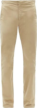 Orlebar Brown Campbell Slim-leg Cotton-blend Trousers - Mens - Beige
