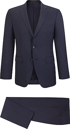BOSS Virgin Wool Gabardine Suit, Regular Fit Johnstons/Lenon