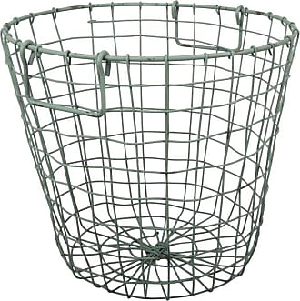 A & B Home Grafton Round Wire Basket Antique Yellow - D42474-YELL