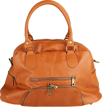 Chicca Borse Woman Handbag with Shoulder Strap in Genuine Leather Made in Italy 47x29x21 Cm