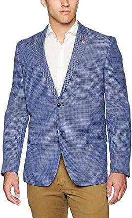 Ben Sherman Mens One Button Weave Blazer