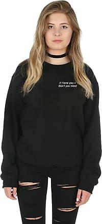 Sanfran Clothing Sanfran - I Love You Dont You Mind Cute Pocket 1975 Jumper Sweater - Extra Large/Black