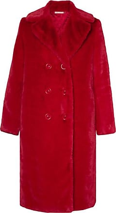 Alice & Olivia Montana Double-breasted Faux Fur Coat - Red