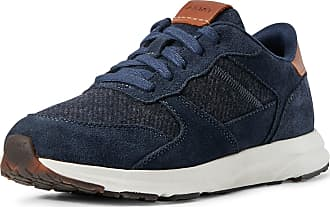 Ariat Womens Fuse Plus Sneakers Shoes in Navy Blue/Flannel Leather, B Medium Width, Size 4, by Ariat