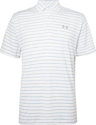 fa0b927f Under Armour Playoff 2.0 Striped Heatgear Golf Polo Shirt - White