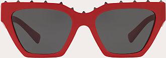 Valentino Valentino Occhiali Occhiale Da Sole Squadrato In Acetato Uomo Rosso Acetato 100% OneSize