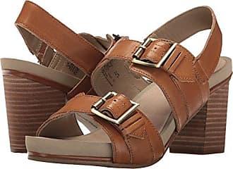 Hush Puppies Womens Leonie Mariska Heeled Sandal Tan Leather 9.5 W US