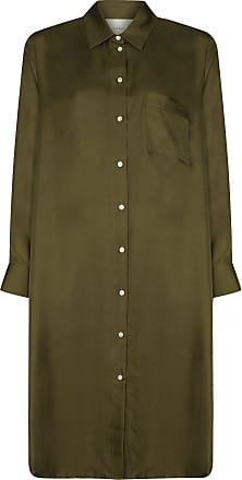 Asceno Hemdkleid aus Seide - Grün
