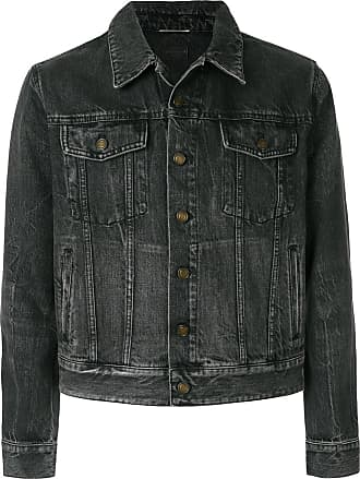 Saint Laurent Black Denim Sunset Patch Jacket - The Webster